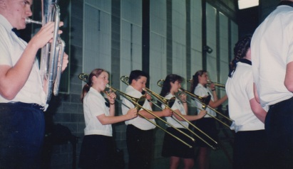 Trombone line at the Brisbane festival of music in October 1994