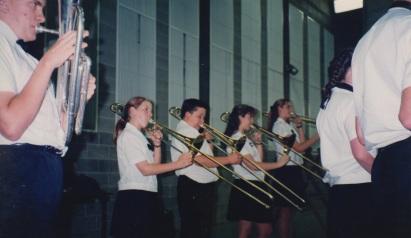 Trombone line at the Brisbane festival of music in October 1994