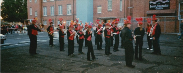 Getting ready for the 2003 Lismore Lantern parade.