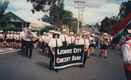 The LCCB in the olympic parade in Coffs Harbour 1997.